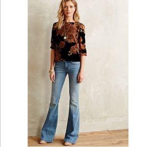 Level 99 Anthropologie flare jeans size 27 EUC